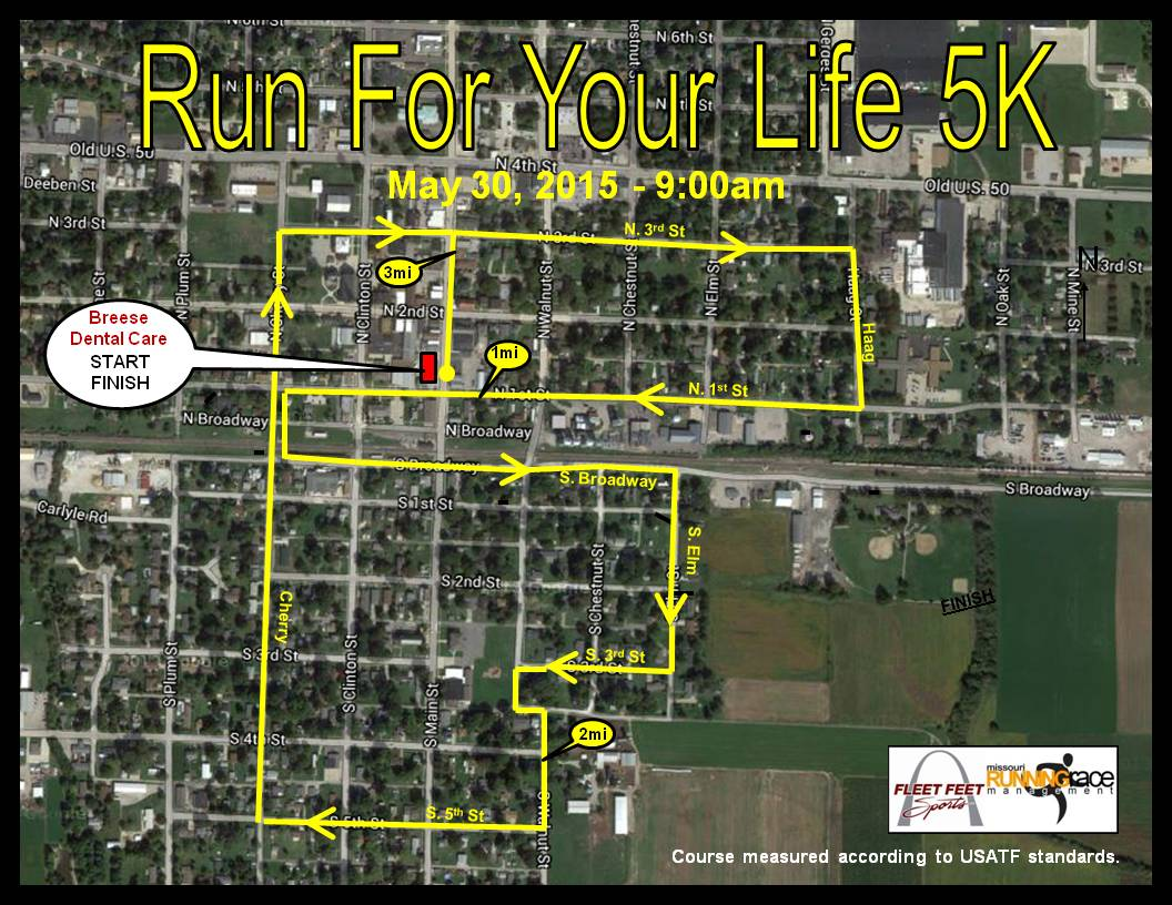 Map. Registration Register via mail-in form to participate. Run for Your Life